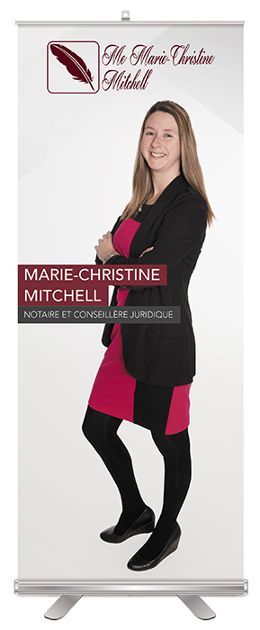 Marie-Christiane, notaire roll-up